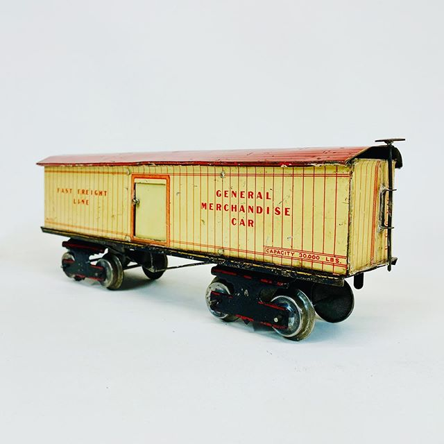 Circa 1909 scarce Ives 1 gauge white boxcar.