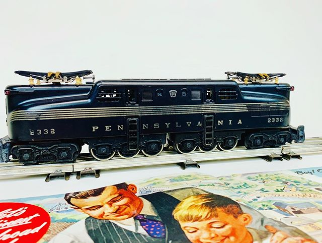 Lionel 2332 black version with very nice original stripes.  This example is part of our photo archive of previous sold items.
