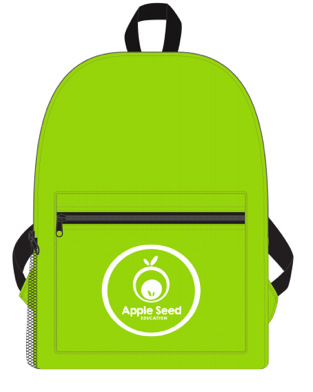 Starter pack - Your child will receive a starter pack full of goodies when they sign up for the 30 week program:- Apple Seed Backpack- Learning Pouch- Seed Read Books- Apple Seed Workbook- Alphabet Character Cards- Apple Seed Name Board- Access to Parent Tutorials