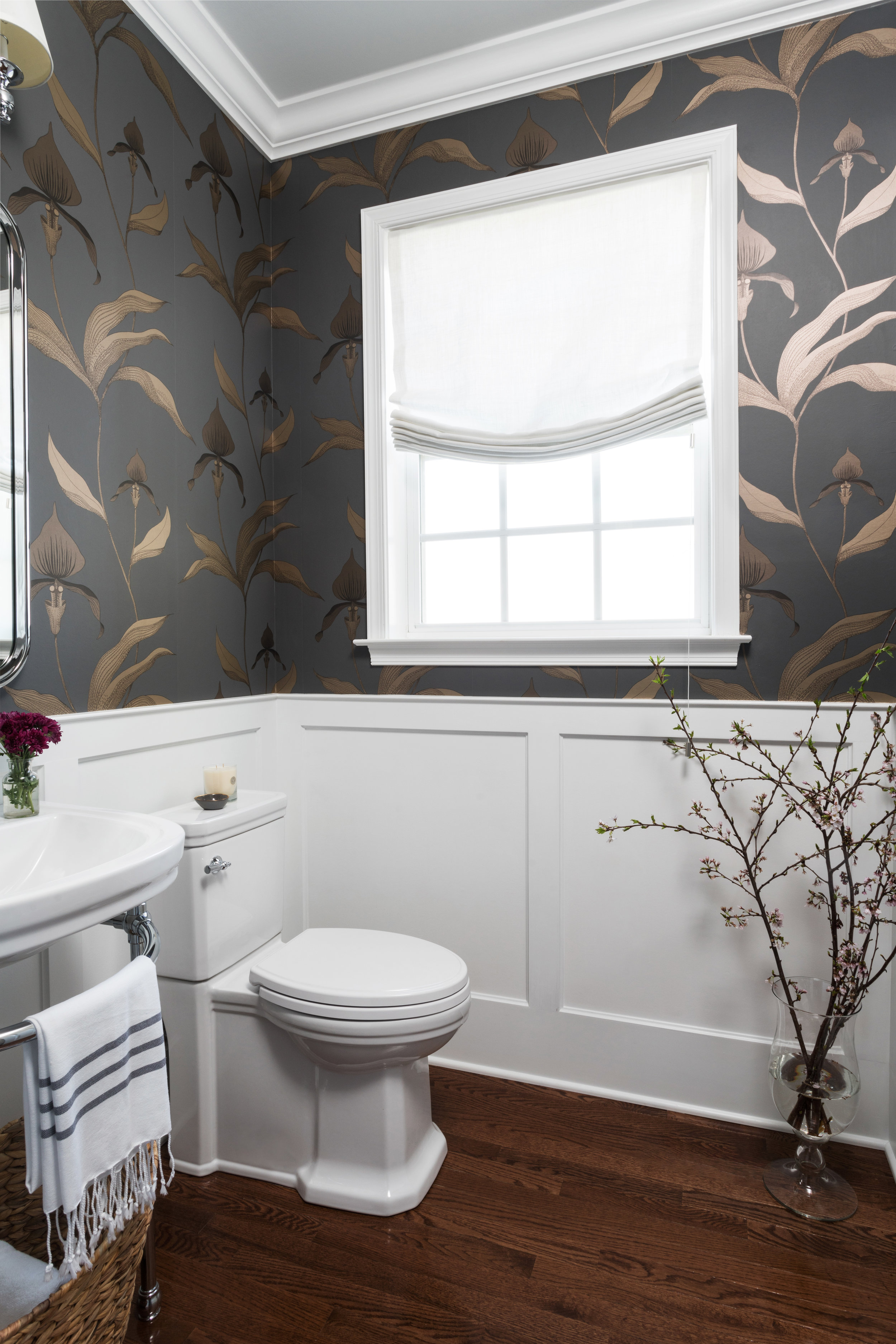 After: Project Abby Road Powder Room