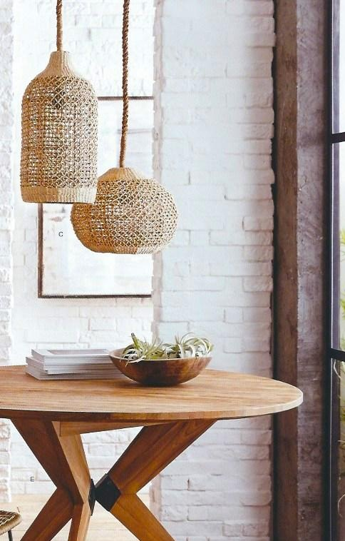 Roost Abaca Woven Pendents from Modish