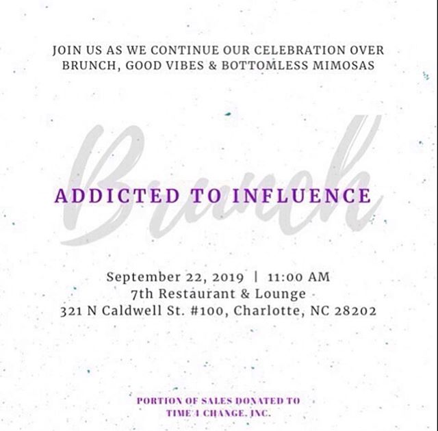 Addicted to Influence Mixer  Celebrating 5 years of service to the community  Featuring -5 Special Guests - @dearjania as the host  Benefiting @Time4ChangeInc 🎟 Link in Bio: https://ati2019.eventbrite.com/ • #time4change #t4c #community #nonprofit #partyforapurpose #partywithapurpose #clt  #704 #843 #girlboss #millennials #womeninbusiness #cltprofessionals #Charlotteprofessionals #CLTPartiee #bossbabe #cltinfluencer  @321uptownlounge