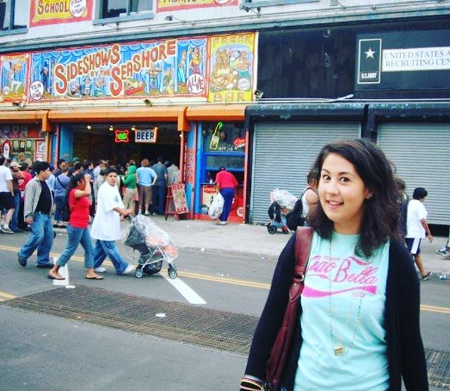"So we're all doing this 10 years later thing? Welp, I've got...""12 years earlier!"" #tbt to the first time I went to Coney Island. 👀🎡🗽🎢"
