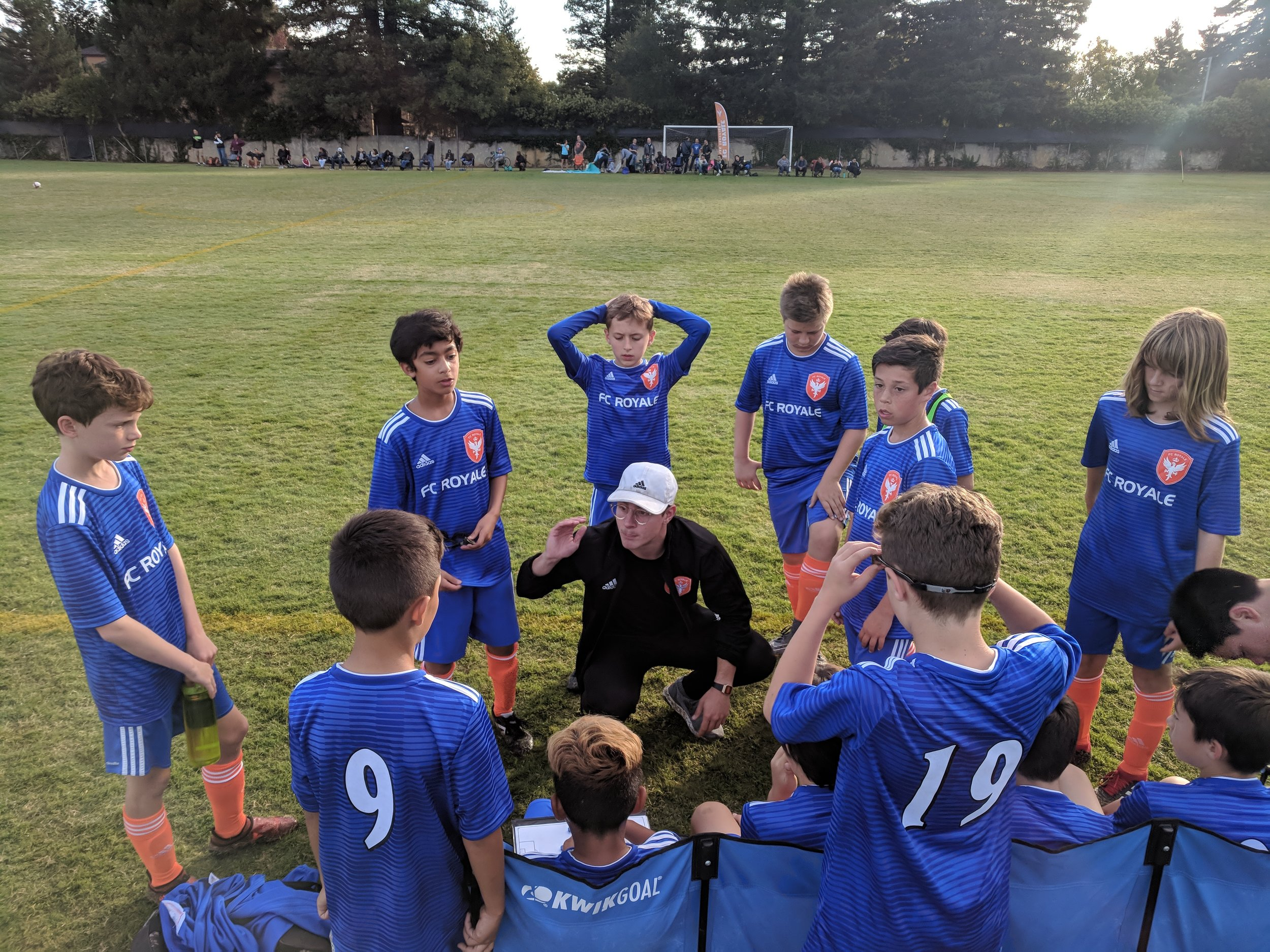 Coach Jared gives instructions to 07B Orange. 9/29/18