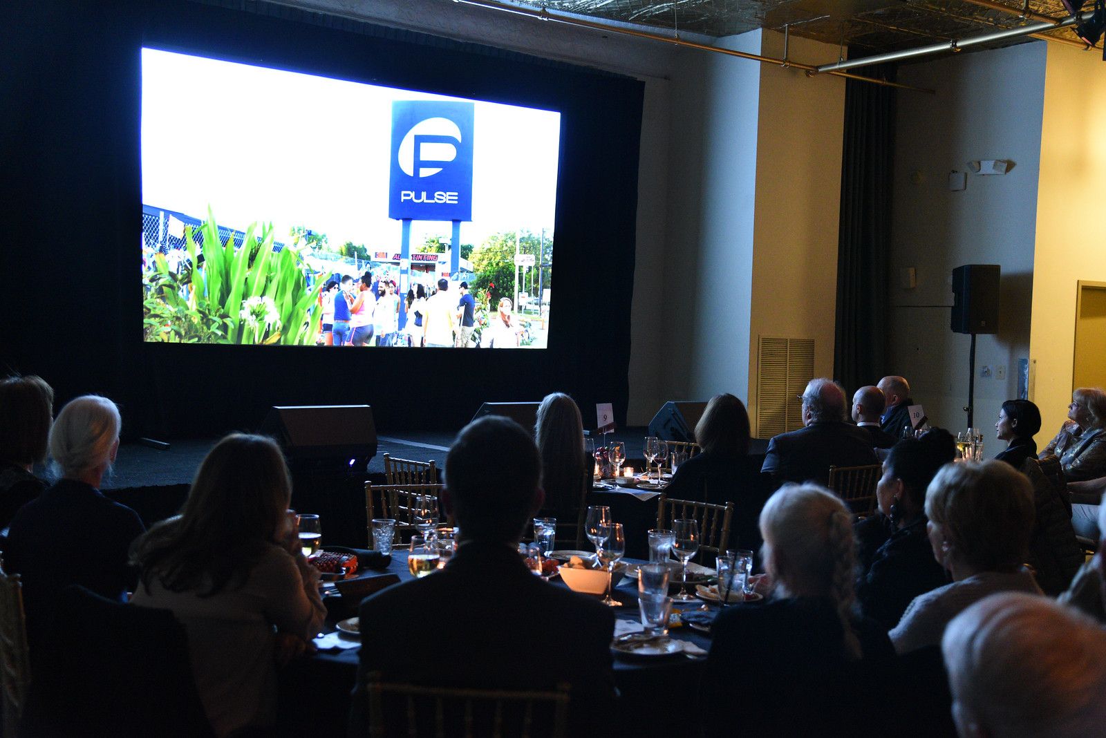 """Audience at F4C DC watching the film """"Love The Sinner"""" by Jessica Devaney. Photo by: Neshan Nalchayan"""