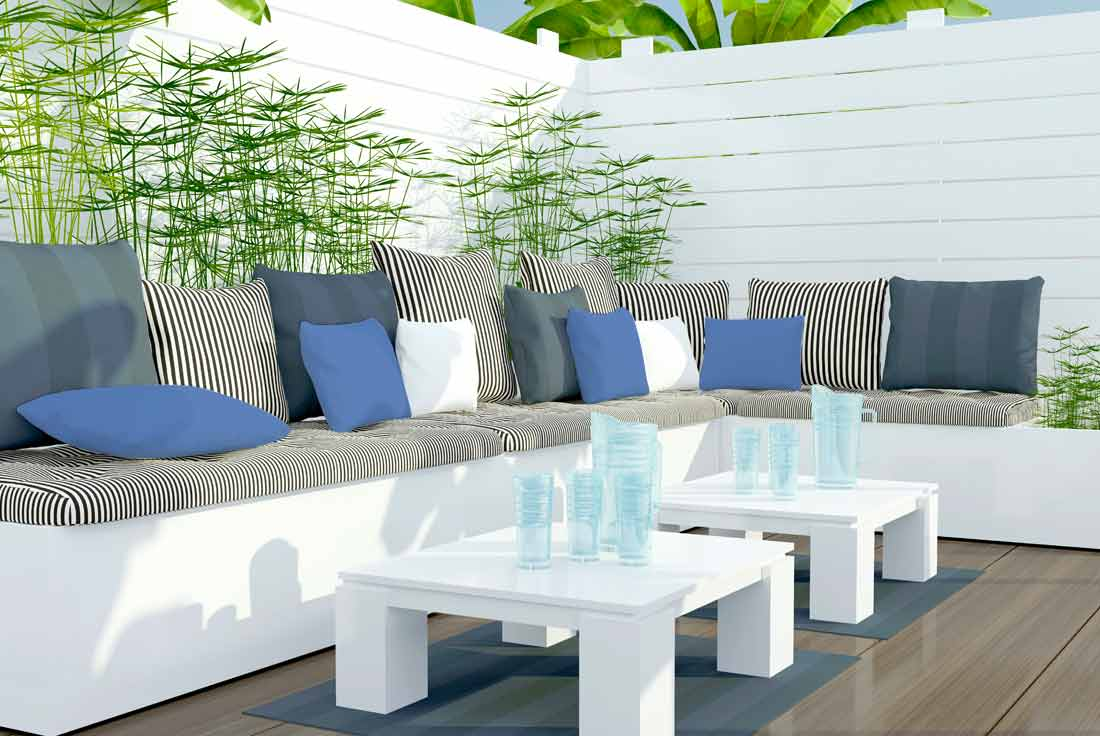 Outdoor textiles - Patio furniture can be easily updated with trendy, weather-friendly fabrics. From decorative accent cushions to functional chair pads, our products and designs bring indoor comfort and style to outdoor living spaces.