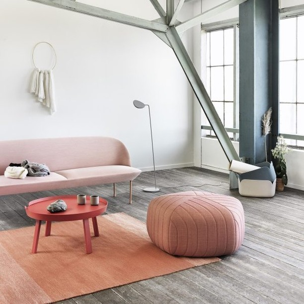 Poufs are such a versatile decor item - they can be used as footstools or extra seating for company. We make lots of them in every possible fabrication, keep an eye out for them everywhere this season! Image: http://ow.ly/EqGt50uHiN8  #home #homedecor #design #trendanddesign