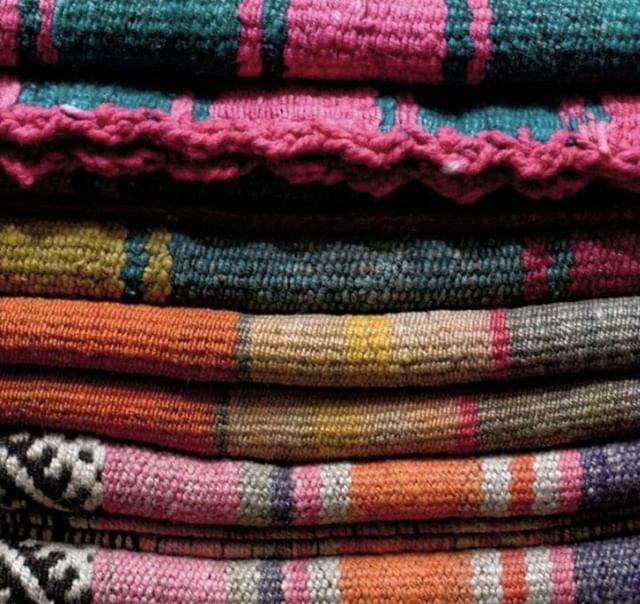 For #tbt we're into these vintage, vegetable dyed, hand woven mantas (or aguayos, or frasadas) from Argentina, Bolivia and Peru, that can be used as throws or rugs. The Aymara and Quechua people traditionally use aguayos to carry small children or items in it on their backs! Image: https://www.disenobos.com/products/vintage-textiles . #home #homedecor #design #trendanddesign #fabric #textiles #decor #beauty #trend #lifestyle #interior #interiordecor #colours #comfort #cozy #aesthetic #artanddesign #inspiration #instadaily #embroidery #geometric #seasonal #cushions #summer #throwbackthursday #vintage