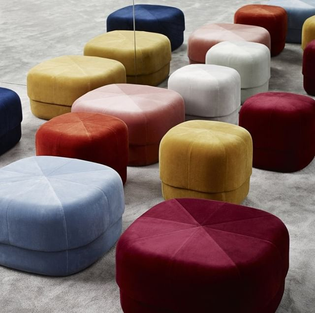 We admit it, we have a little velvet problem - we love the texture and the depth of vibrant colour so much that we're a little addicted to everything home in luxurious velvets. It's not just for winter anymore - you can find velvet poufs and cushions everywhere, for any season! Check out these very luxurious poufs from Normann Copenhagen https://shophorne.com/products/circus-pouf?variant=511698534401