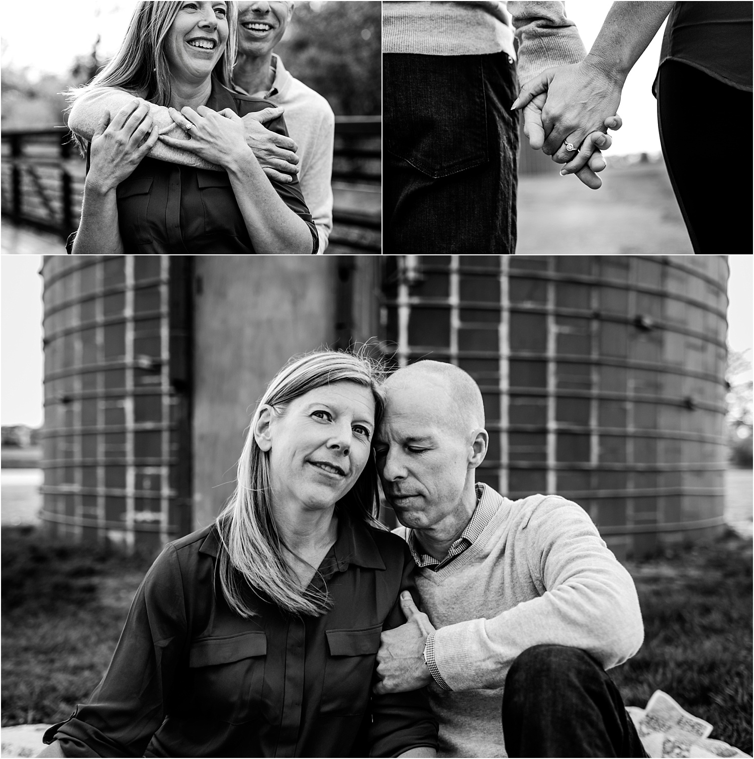 Engagement Photography, bride and groom at the Heritage Park Silo in Olathe Kansas.jpg