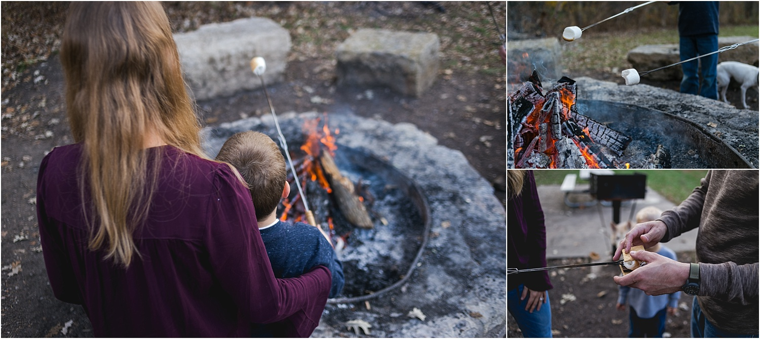 Family Lifestyle and Documentary Photography-building s'mores-Wildcat Park-Manhattan Kansas