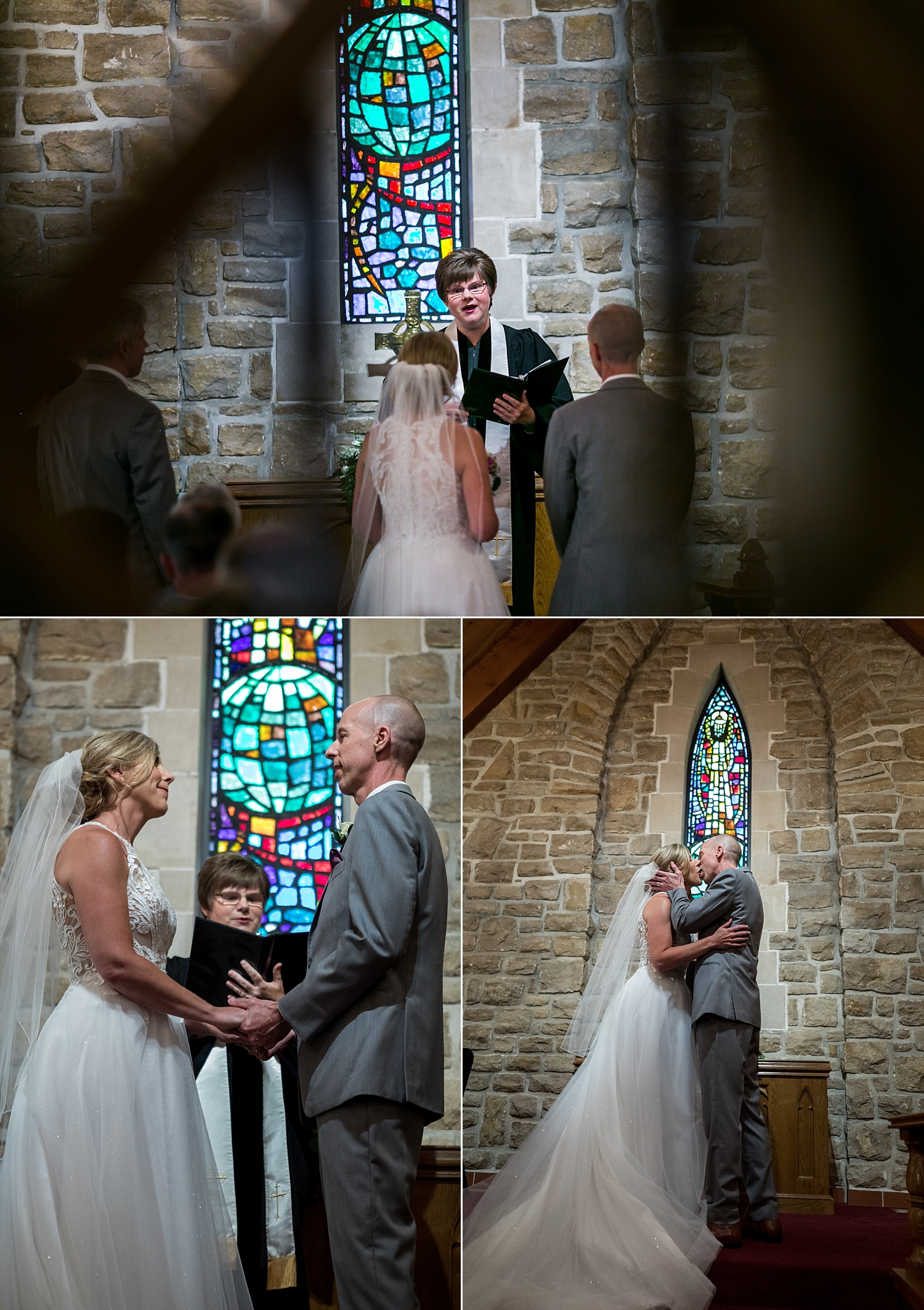 Intimate-Wedding-Photography-here-comes-the-bride-Timmons-Chapel-Pittsburg-KS