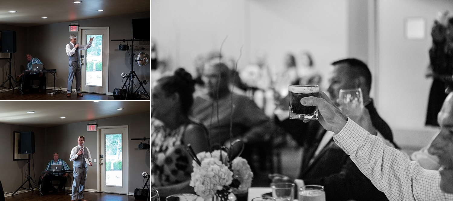 Intimate-Wedding-Photography-reception-toasts-Crestwood-Country-Club-Pittsburg-KS