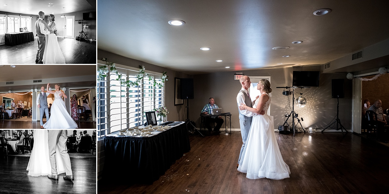 Intimate-Wedding-Photography-reception-couple-first-dance-Crestwood-Country-Club-Pittsburg-KS