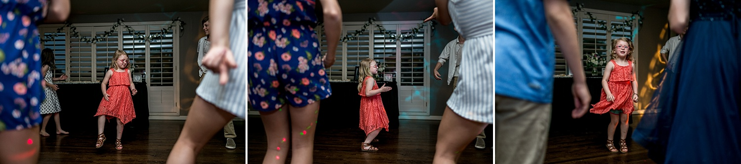 Intimate-Wedding-Photography-reception-little-girl-dancing-Crestwood-Country-Club-Pittsburg-KS