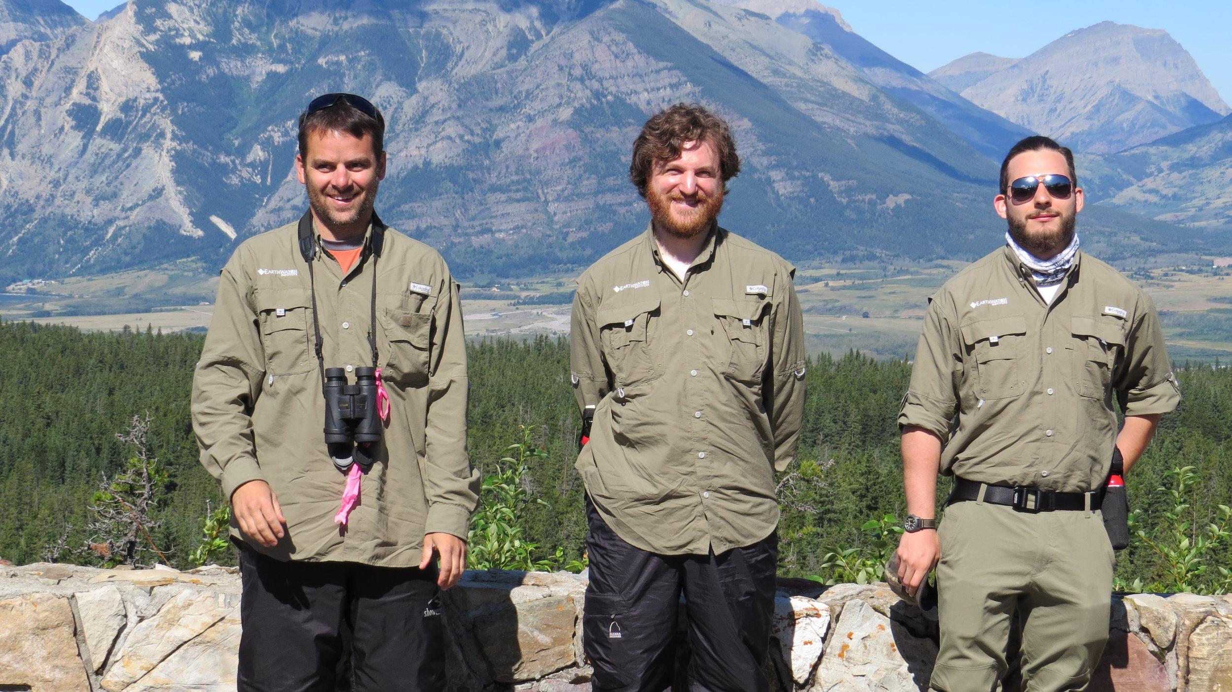 Millennials Chris Anderson, Jason Kirkey, and Corwin Scott Working on an Earthwatch Project, Photo by Cristina Eisenberg