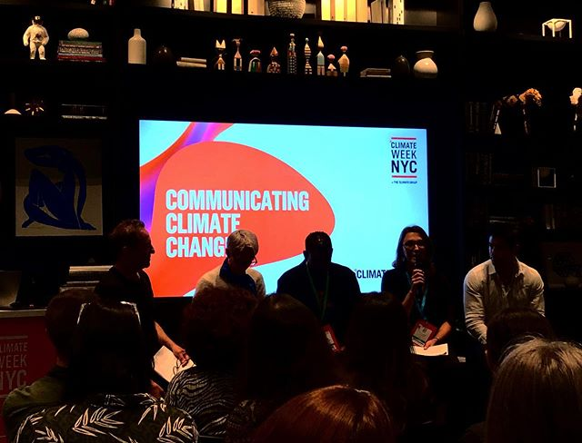 Our founder Emilie Baliozian here to discuss important matters with @climatemuseum @glblctzn @joconfino @huffpost @chucknicecomic and other important players. THANK YOU @theclimategroup !! #nycclimateweek #climatechange #climatecrisis #climateaction #youth #sustainability #green #climatecommunication