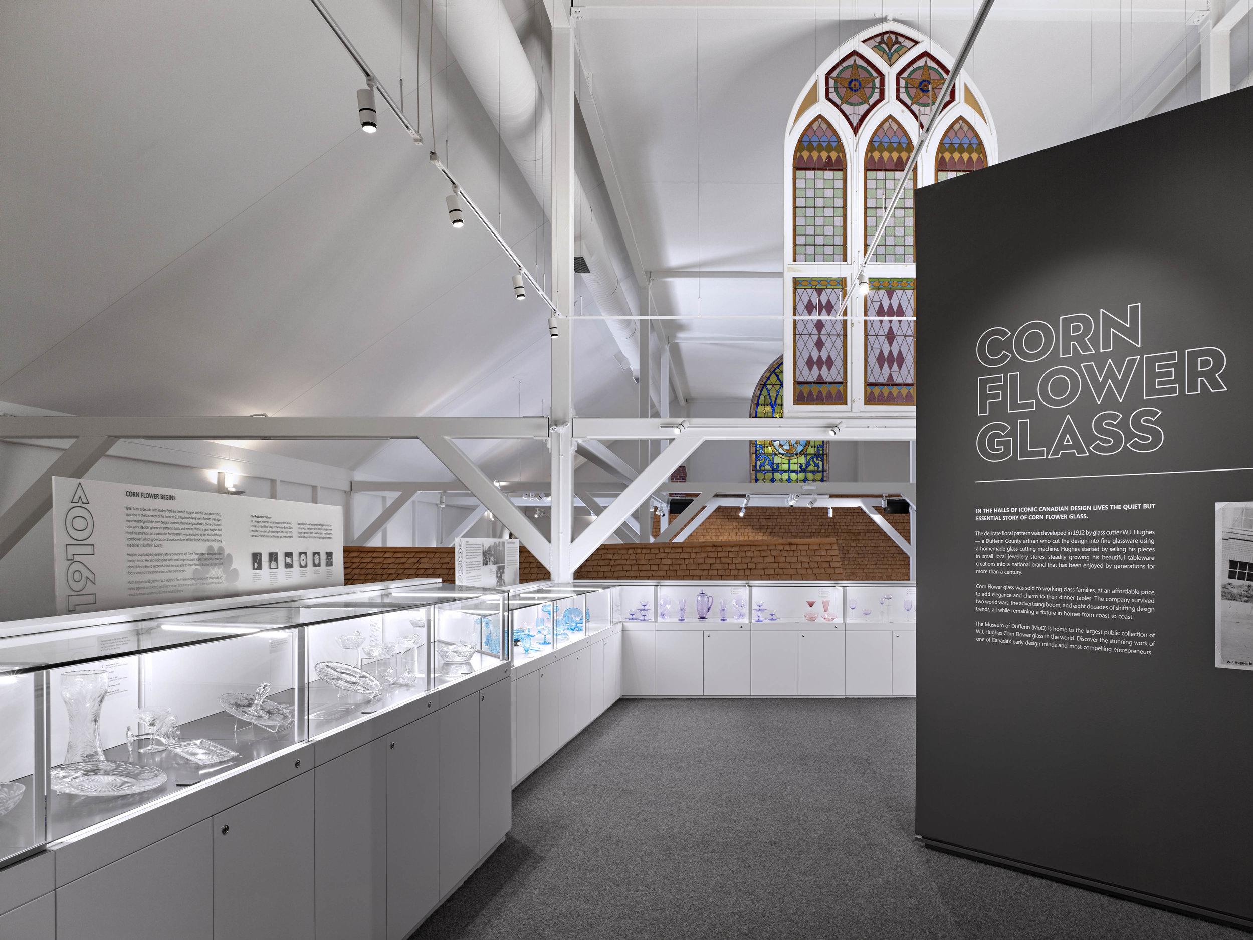 Museum of Dufferin - The New Cornflower Glass Gallery at the Museum of Dufferin is now open!