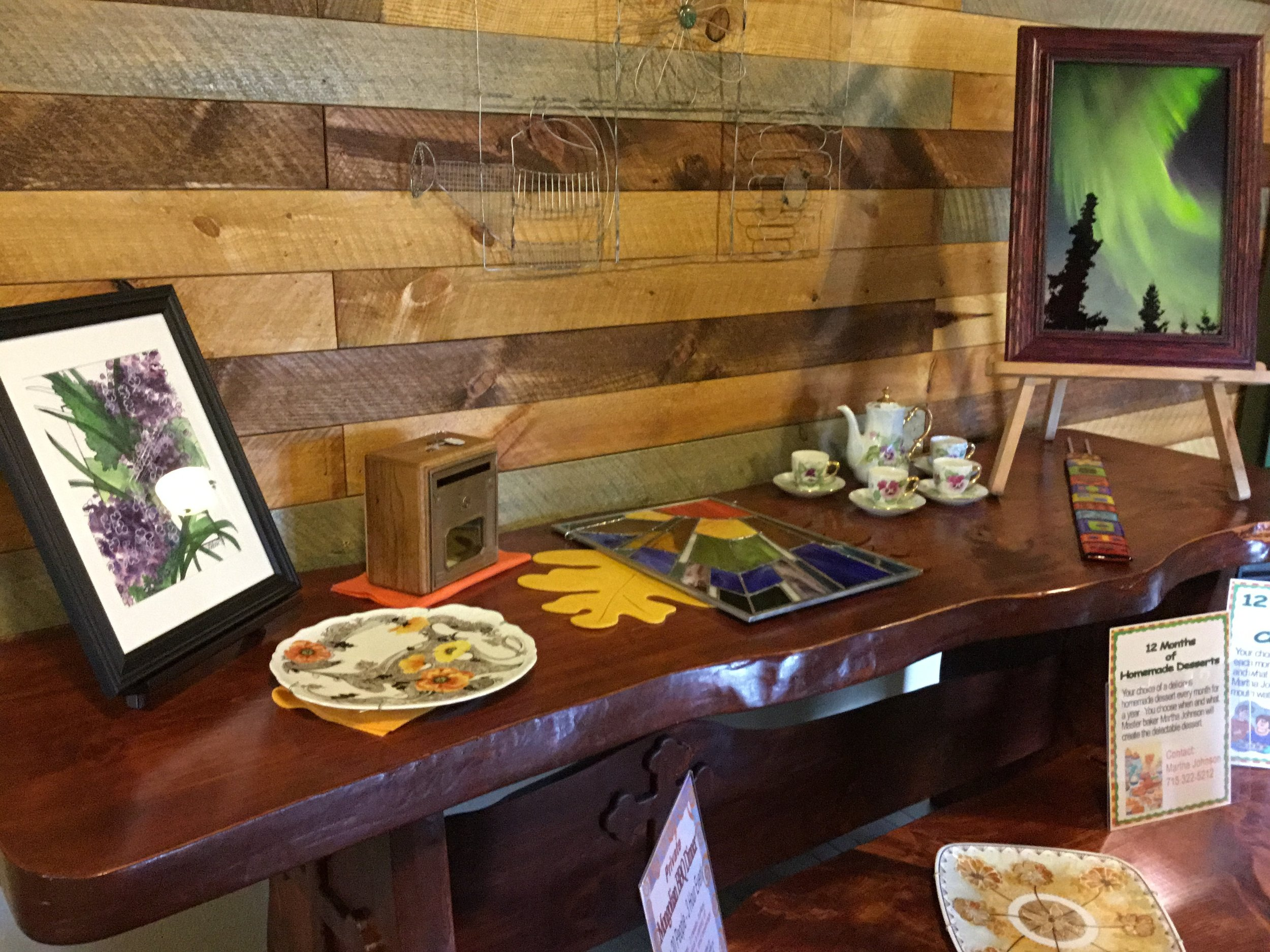 Harvest Auction pieces, join  us October 13, 10 am.