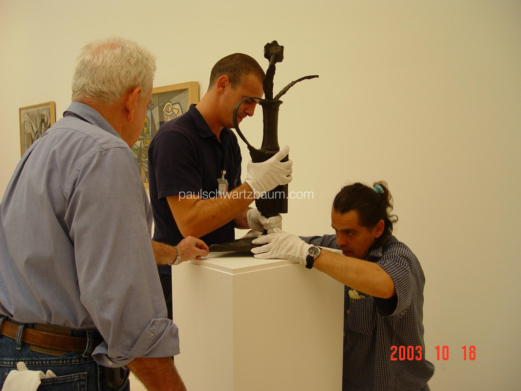 Installation of Museum Picasso, Malaga -