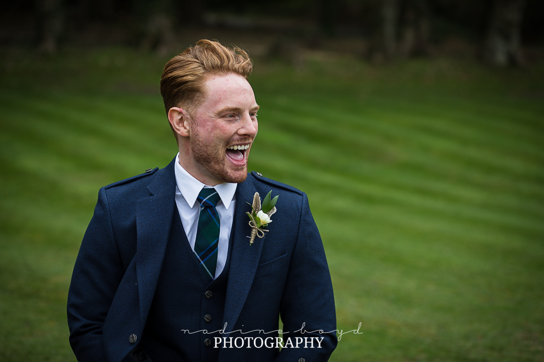 Scottish groom