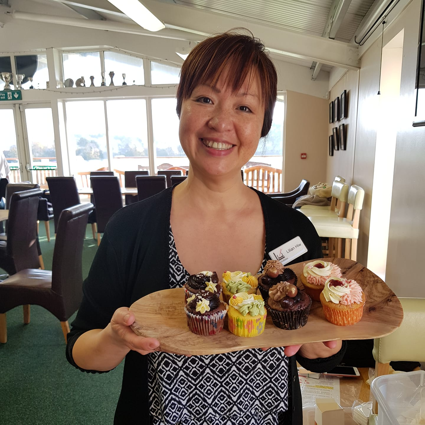 Lillian from Lillian's Kitchen with her cakes.
