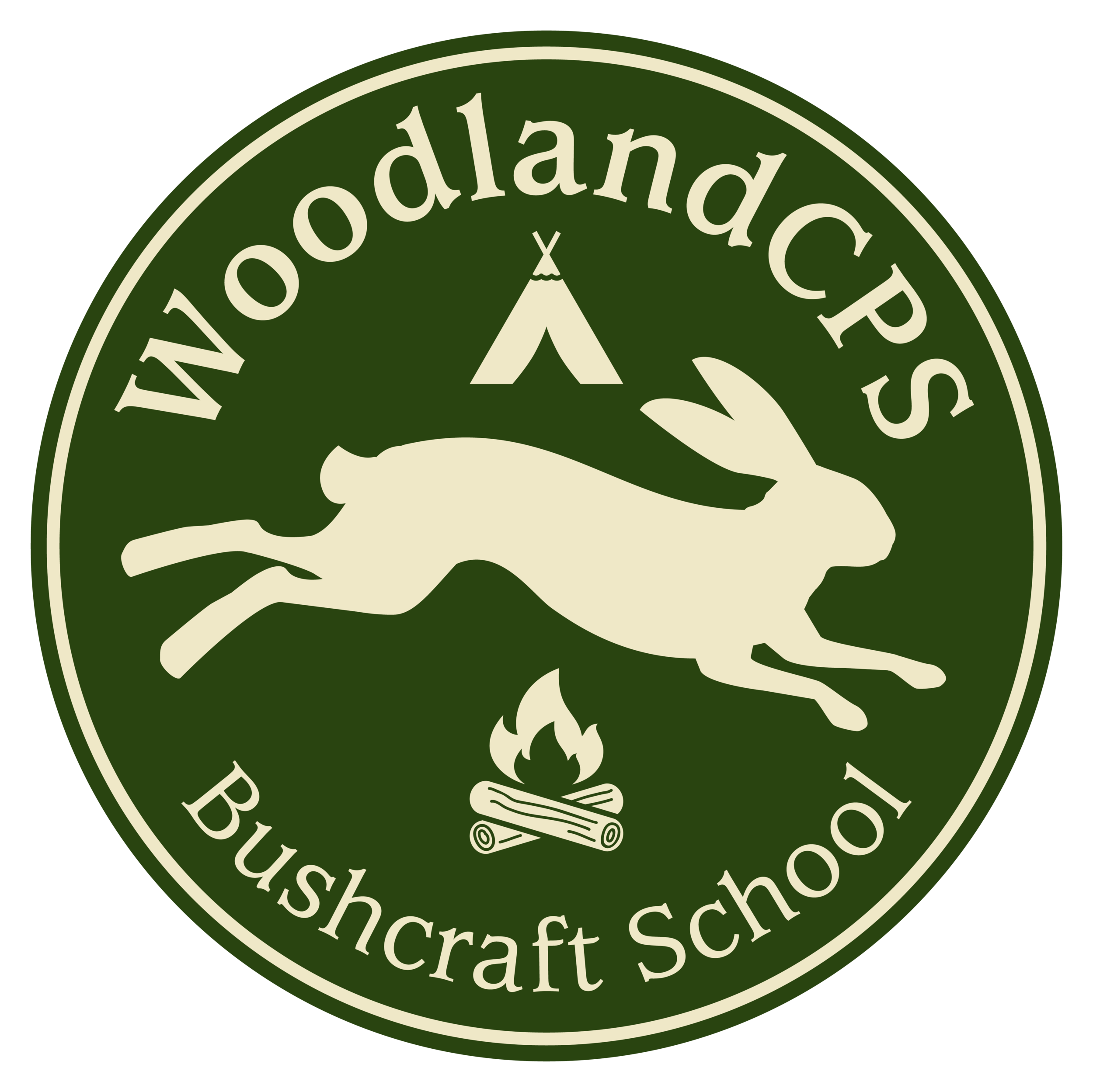 WoodlandCPS Bushcraft School Logo.