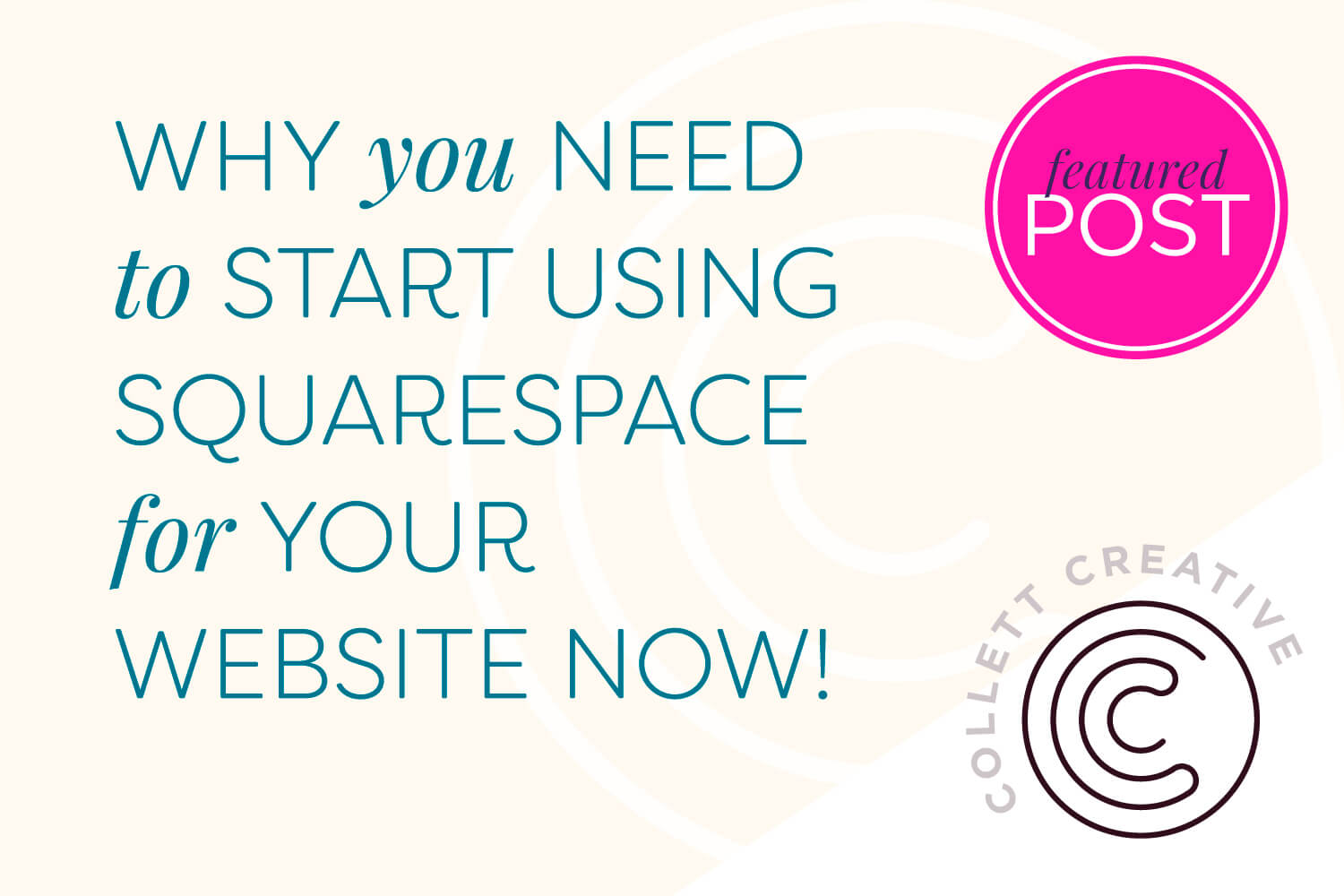 Why you need to start using Squarespace for your website now!