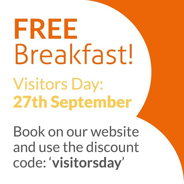 Come along to our Visitors Day and enjoy a FREE breakfast on us.