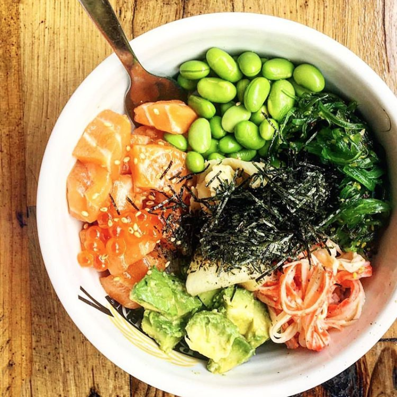POKE LAB EATERY - Hawaiian inspired Poké AND suhirittos made using only the most premium sustainable, seasonal and natural ingredients.