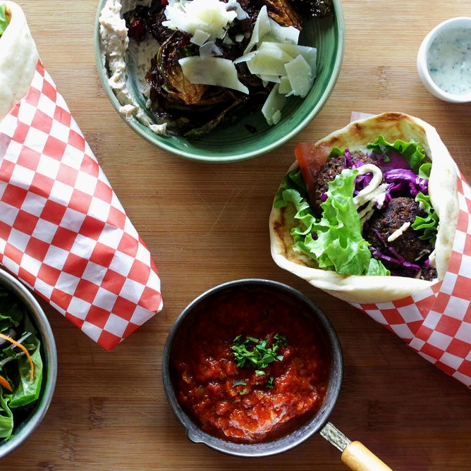 LOKANTA - Plant-based and Vegan options specializing in organic pita wraps, bowls, and salads.