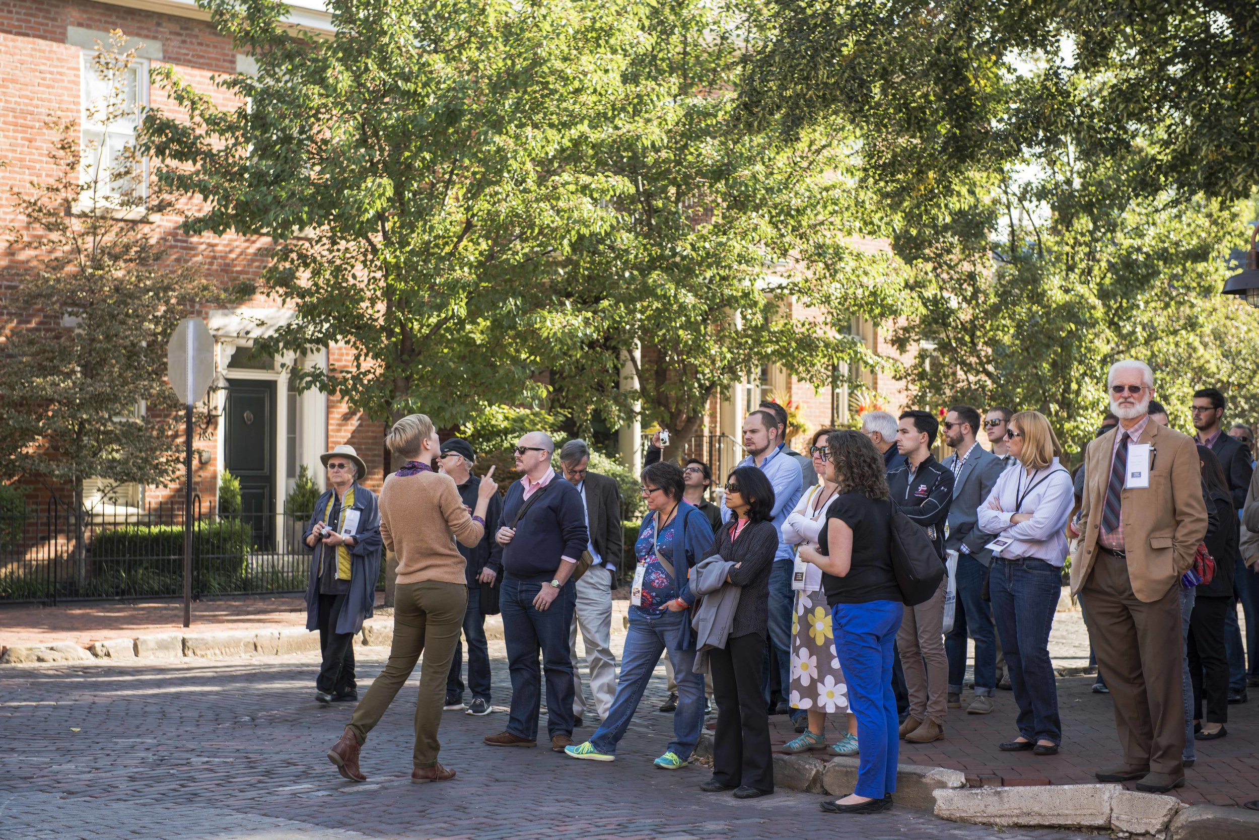 Leading a tour in the German Village historic district for the 2014 Great Placemakers Lab conference.