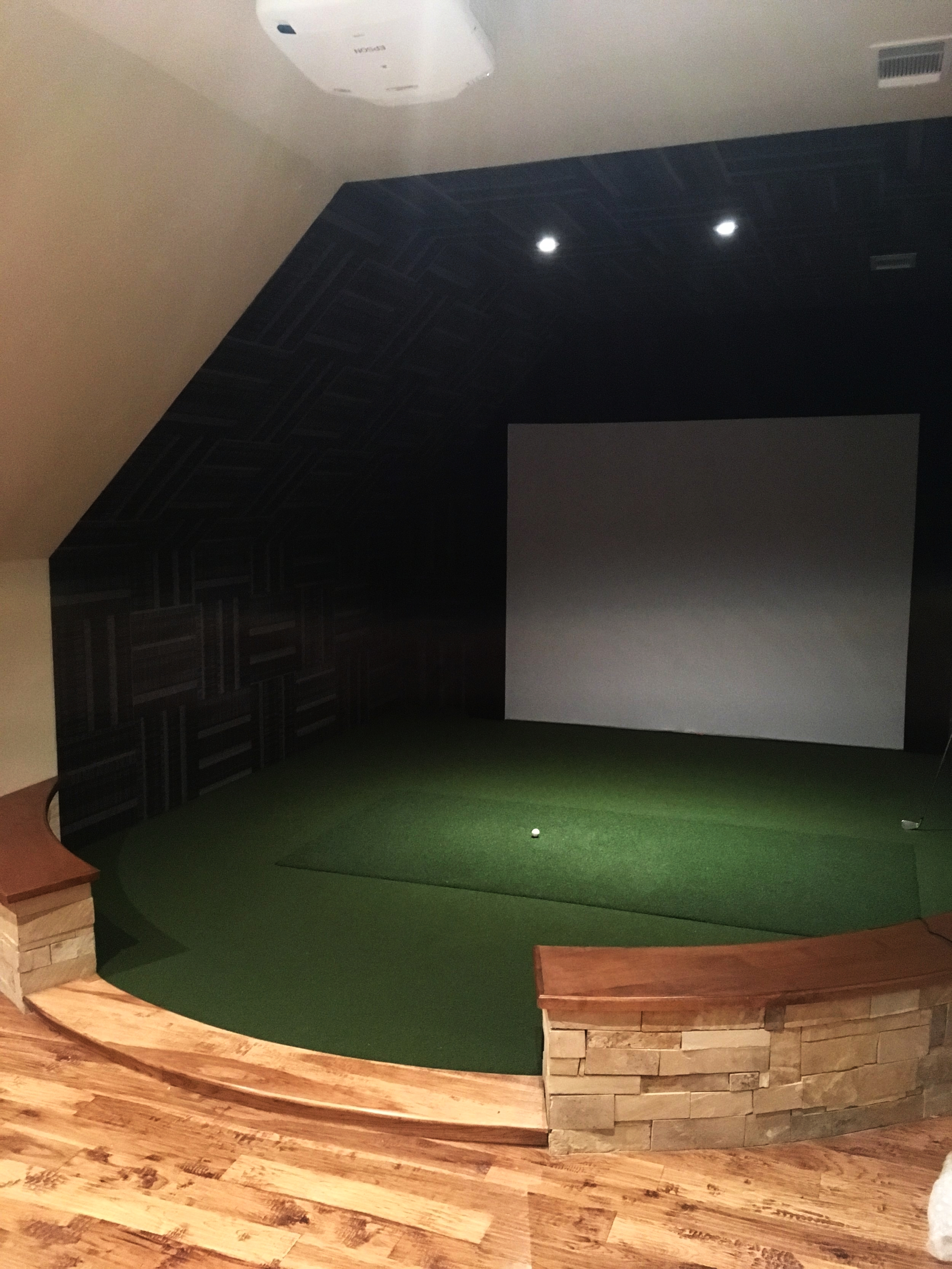 Completed golf simulator