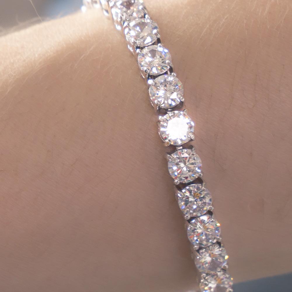 Round Cut Diamond Tennis Bracelet - 1 Carat each