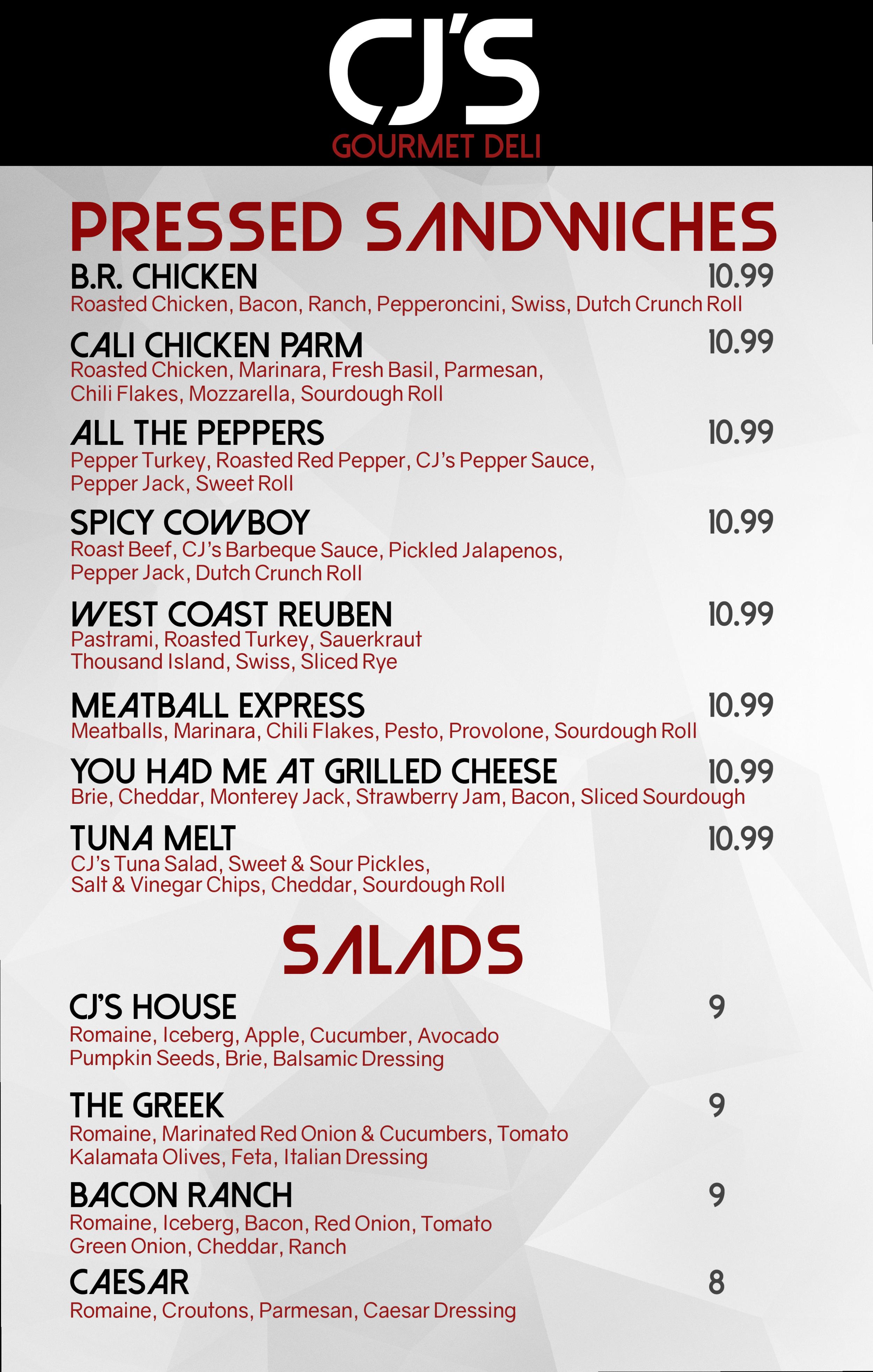 PressSandwiches&salad