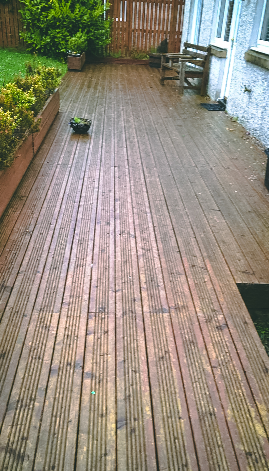 Existing decking pre-staining