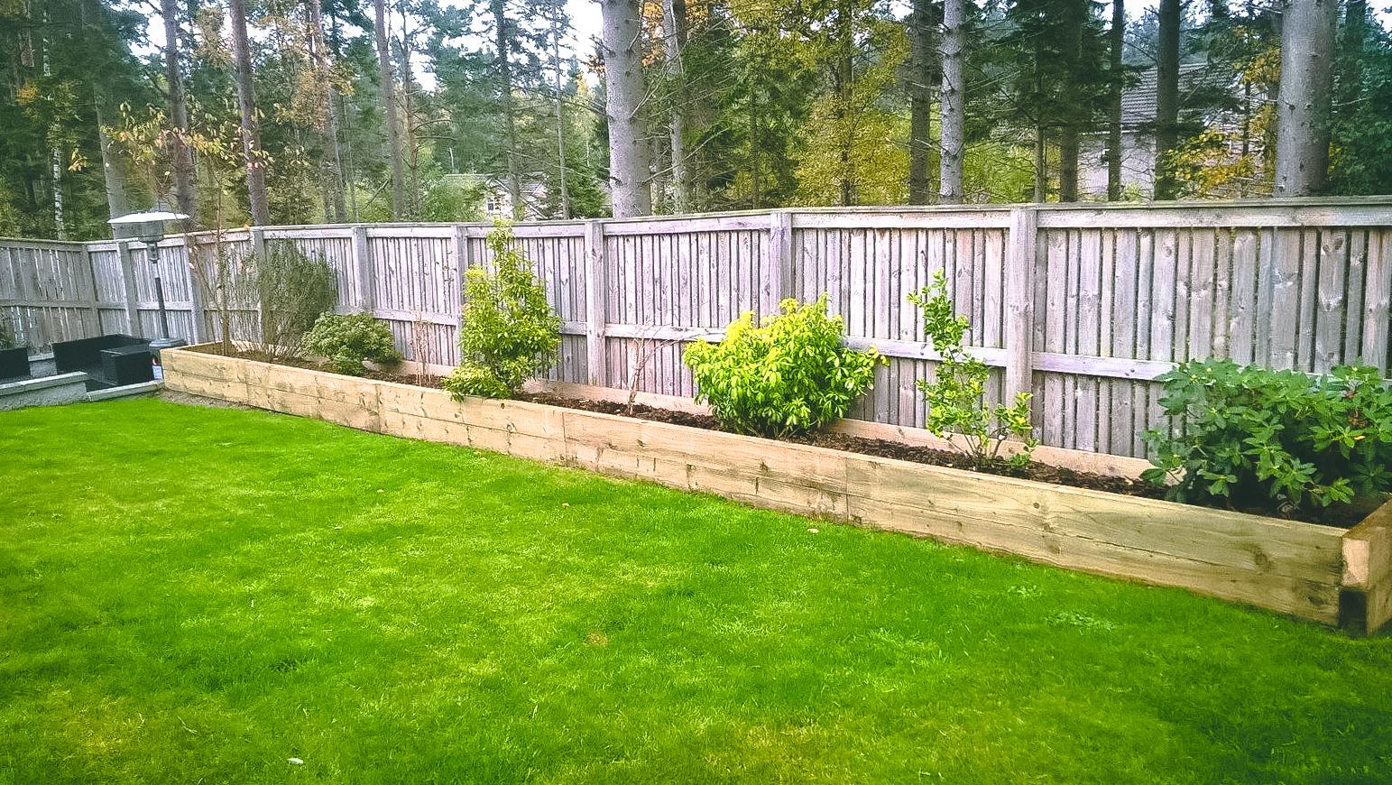 Raised border design & installation