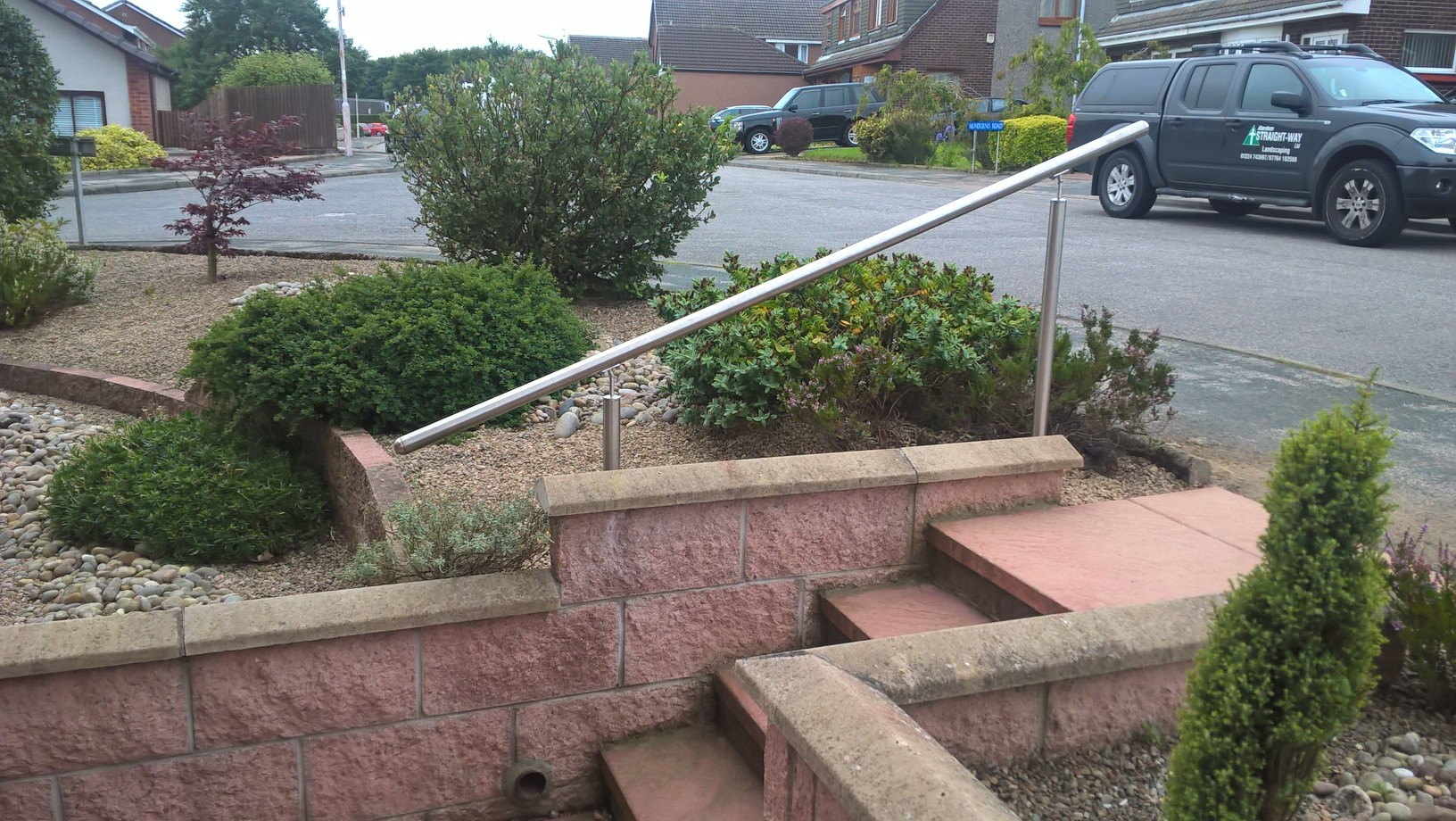 Stainless steel handrail, Bridge of Don