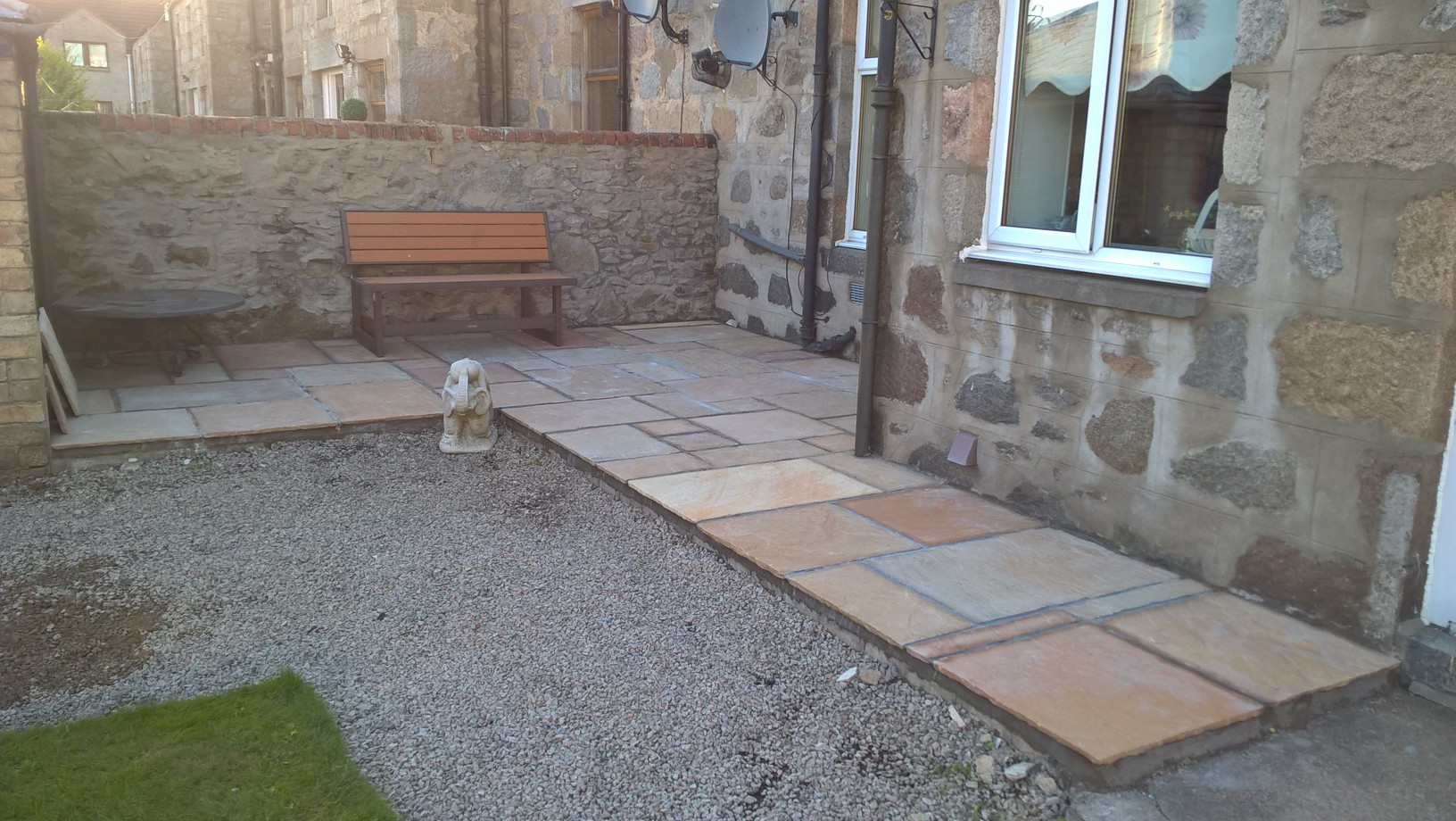 Small patio installation, Inverurie
