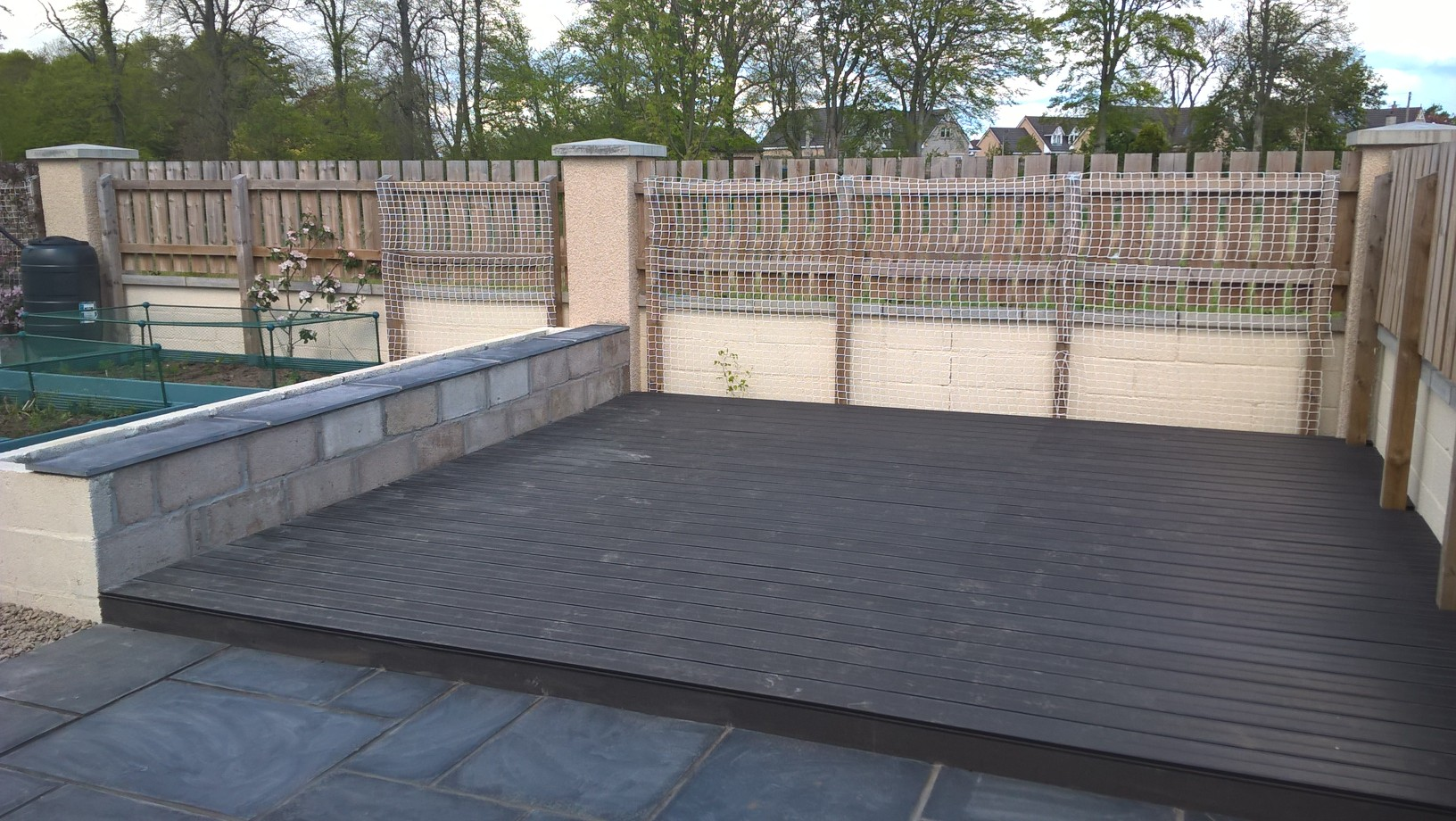 Composite decking, Echt