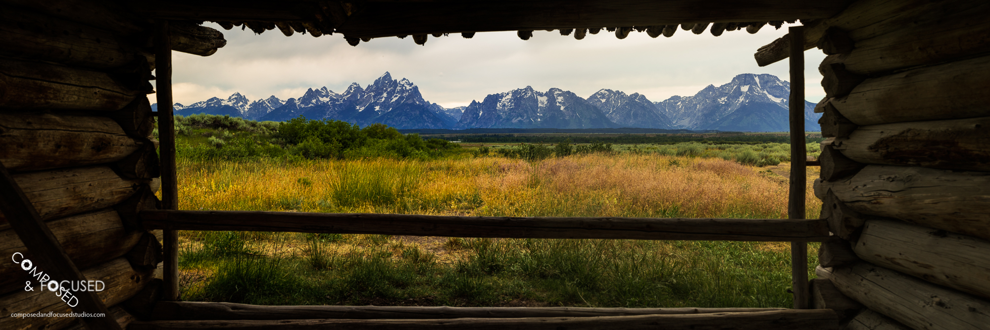 Grand Tetons from Cunningham Cabin