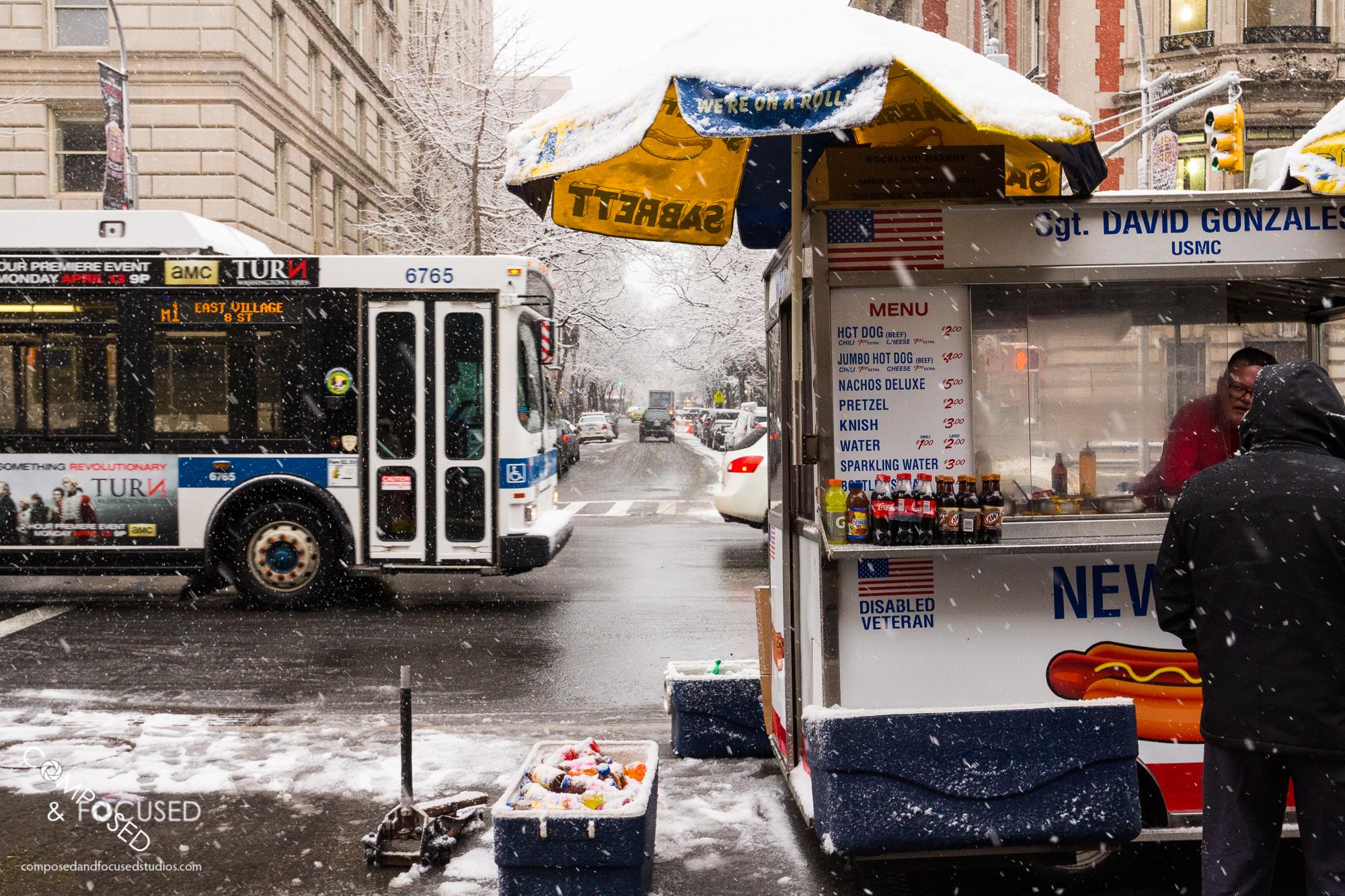Street Vendor in a New York Winter