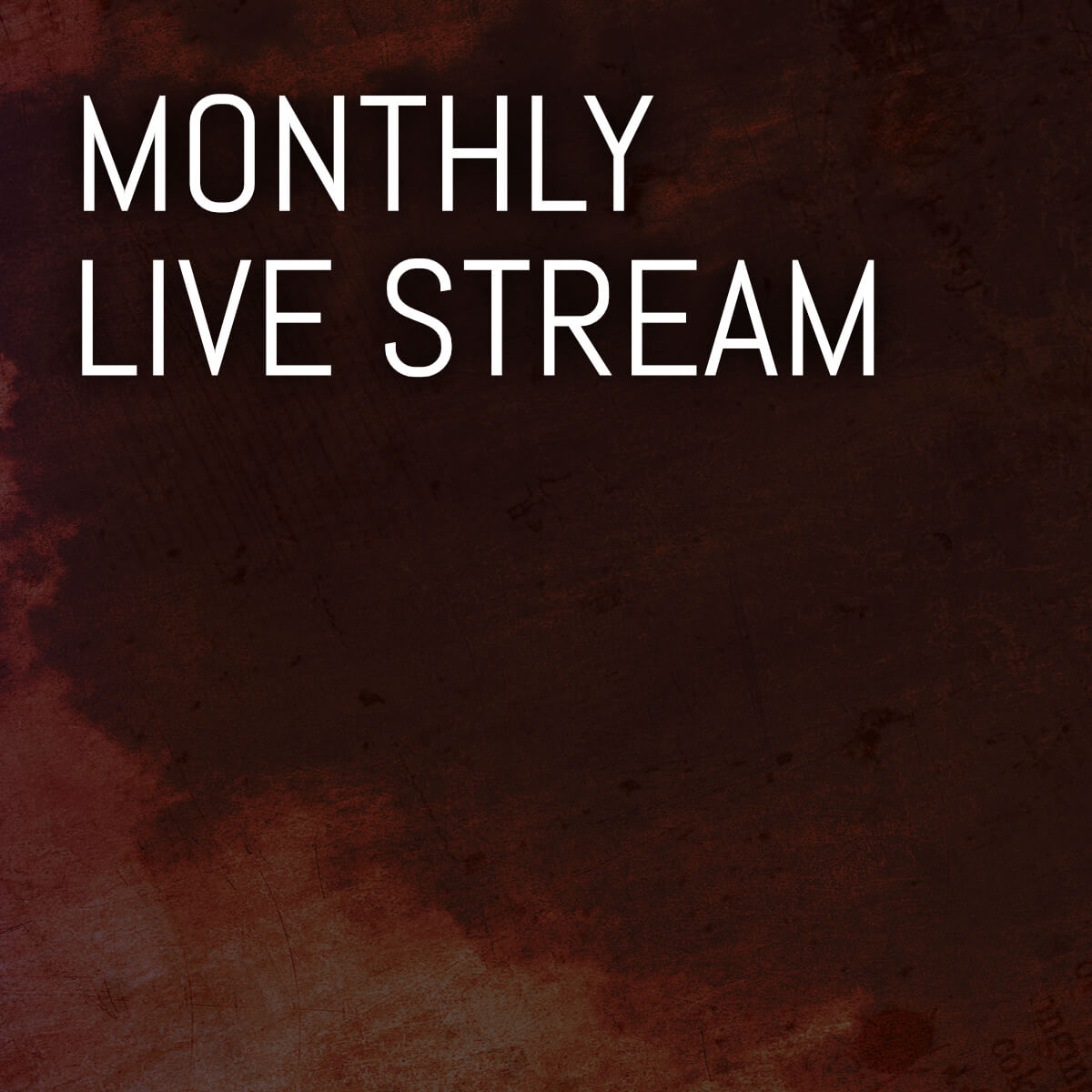 Once per month, interact with us live as we discuss what's new with the band and give insight into our music.