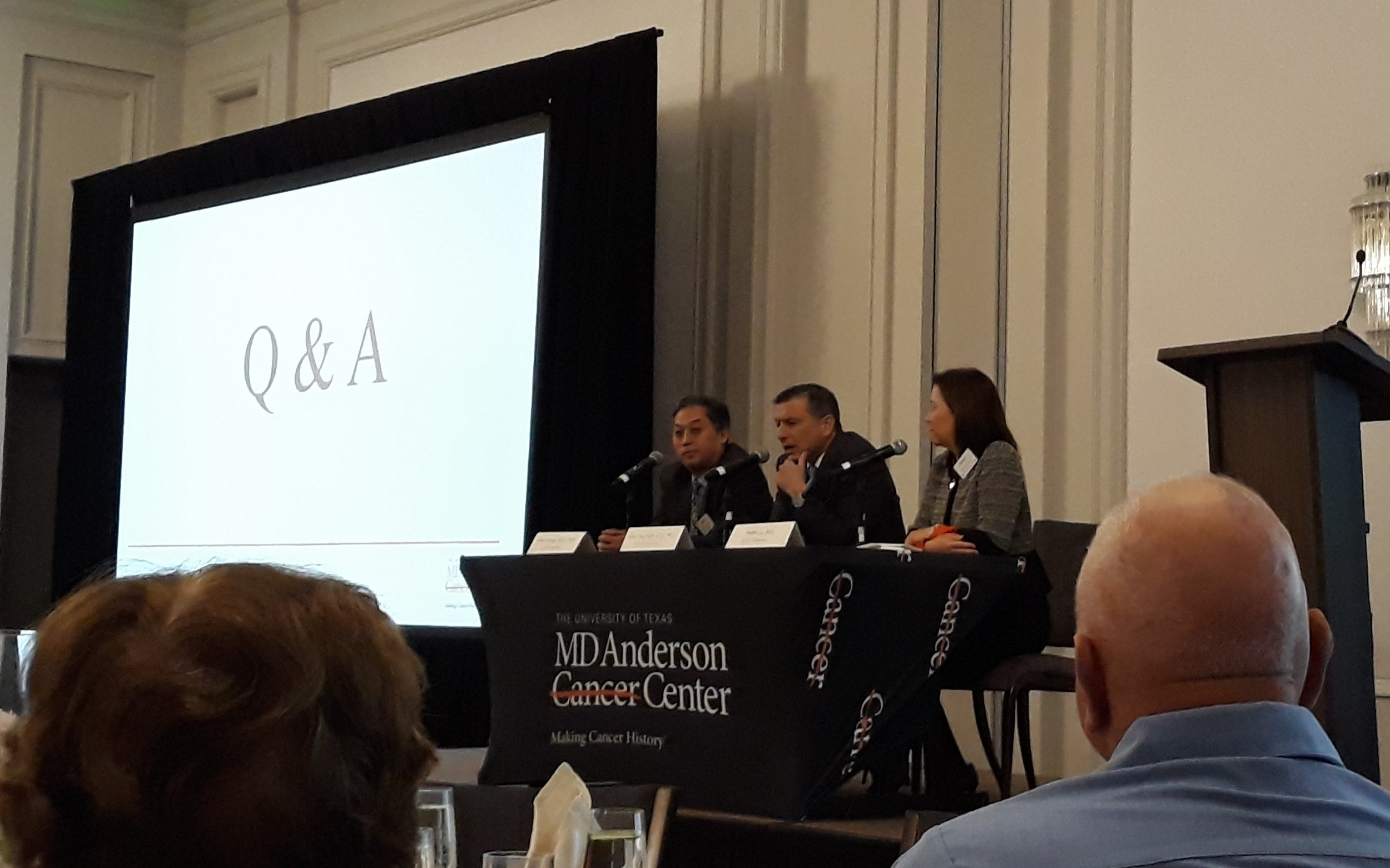 Q & A Session with MD Anderson