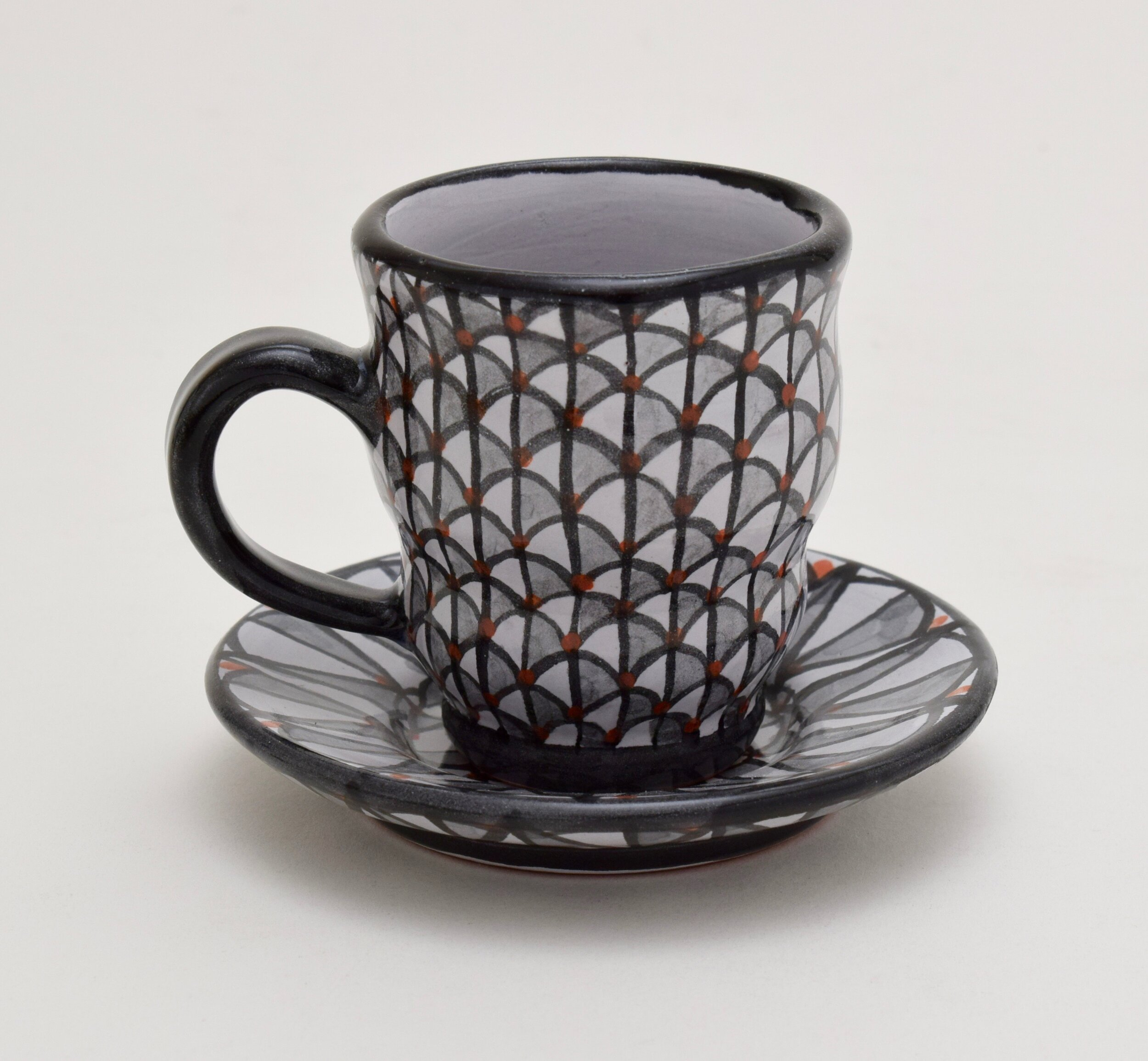 Black and White Scale Espresso Cup with Saucer.jpg