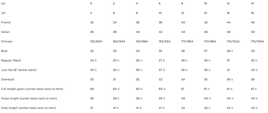 oscar_de_la_renta_size_chart