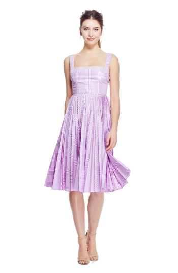 Orchid Pleated Skirt Dress