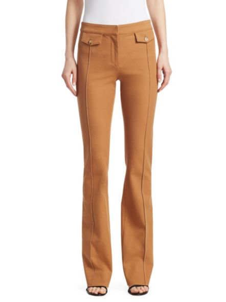 Flare Trouser With Tab Details