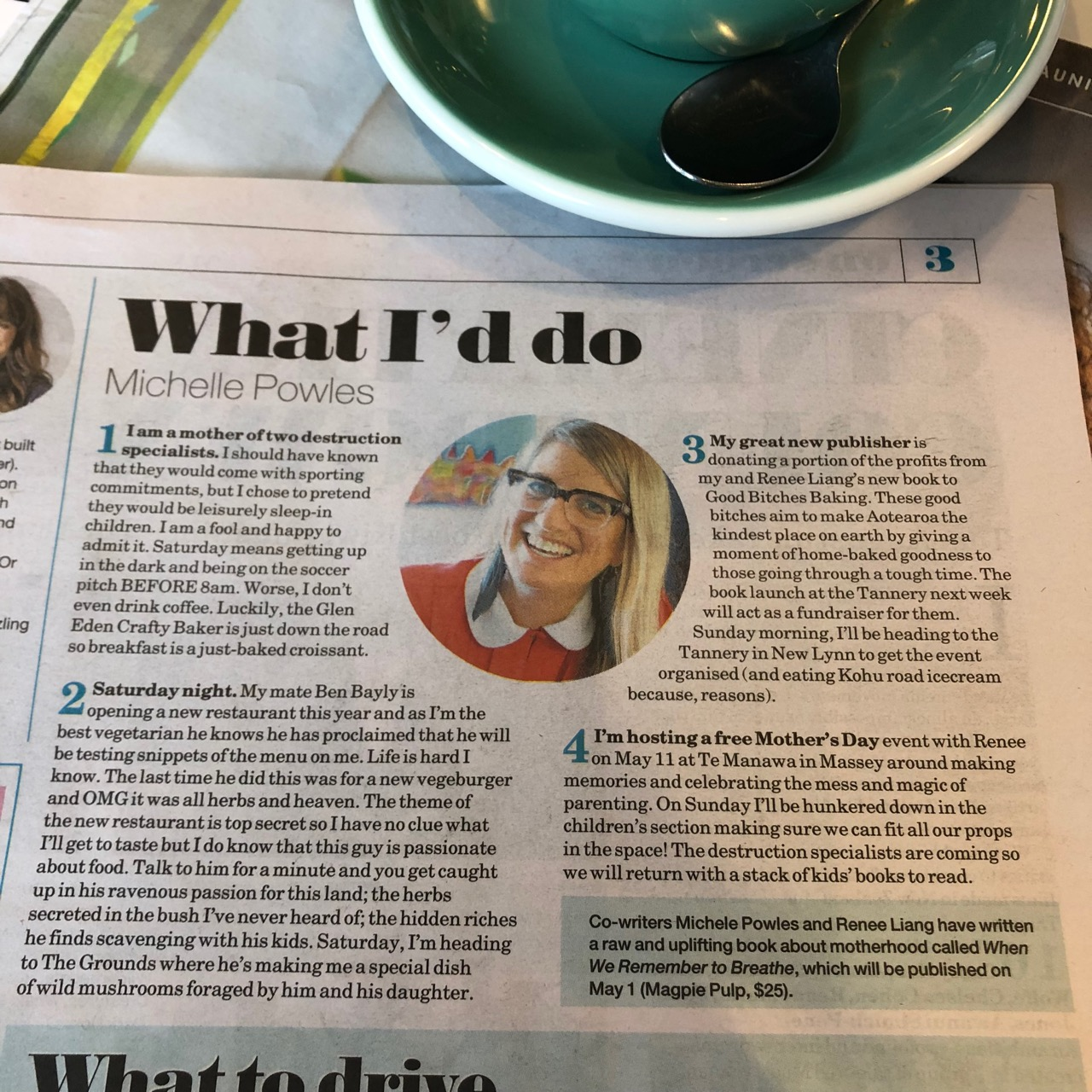 Michele in the Herald on Sunday