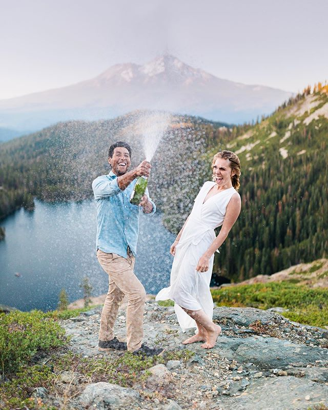 Out on the Mendocino Coast tonight. Beautiful wedding @cuffeyscoveranch tomorrow. Excited. Here's a throwback to these two up near Mt Shasta having a blast.